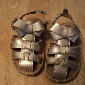 Carter's Gold Sandals Size 6